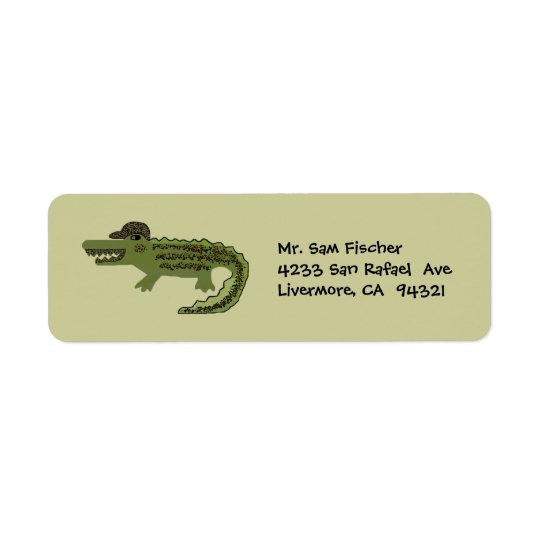 Crocodile Cool Return Address Labels