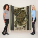 Crocodile Crikey! Fleece Blanket
