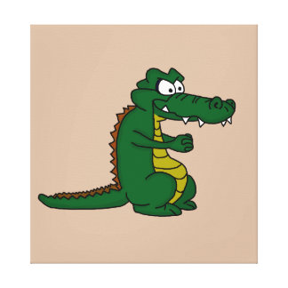 Crocodile design cards and paper products canvas print