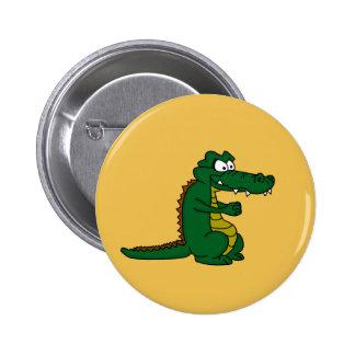 Crocodile design custom buttons and badges