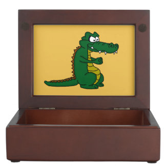 Crocodile design custom keepsake box