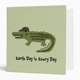 Crocodile Earth Day Binder