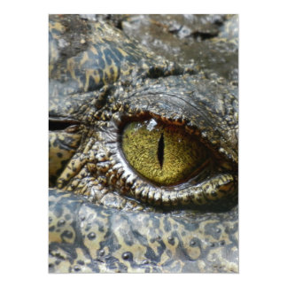 crocodile eye face animal custom personalize diy card