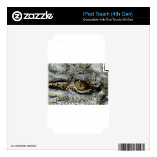 crocodile eye face animal custom personalize diy iPod touch 4G decals