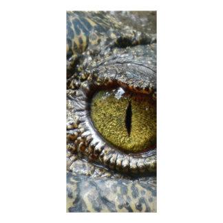 crocodile eye face animal custom personalize diy rack card