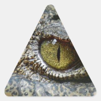crocodile eye face animal custom personalize diy triangle sticker