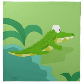 Crocodile from my world animals serie cloth napkin
