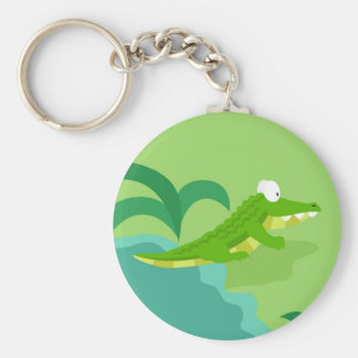 Crocodile from my world animals serie keychain