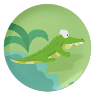 Crocodile from my world animals serie plate