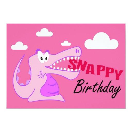 Crocodile Happy Pary Invitations