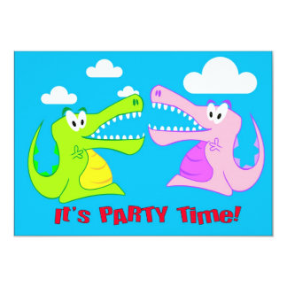 Crocodile Happy Pary Invitations
