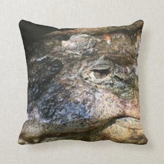 crocodile head photo pillow