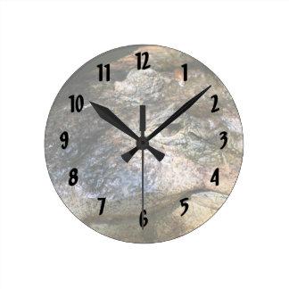 crocodile head photo round clock