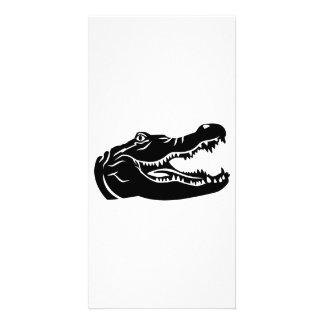 Crocodile head photo card