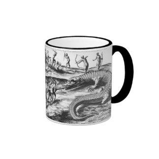 crocodile hunt ringer coffee mug