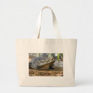 crocodile jumbo tote bag