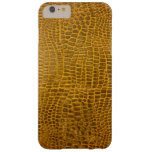 Crocodile Leather Barely There iPhone 6 Plus Case