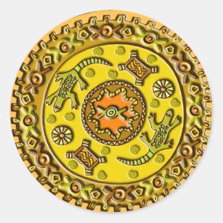 Crocodile Mandala Classic Round Sticker