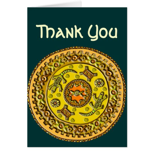 Crocodile Mandala Customizable Card