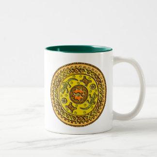 Crocodile Mandala Two-Tone Coffee Mug