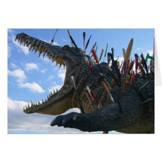 crocodile meal greeting card
