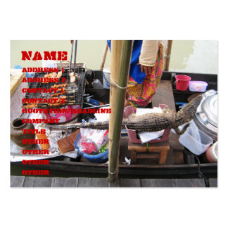 Crocodile Meat BBQ ... Thailand Street Food Business Cards