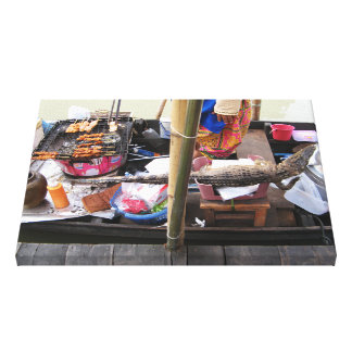 Crocodile Meat BBQ ... Thailand Street Food Canvas Print