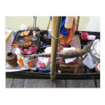 Crocodile Meat BBQ ... Thailand Street Food Postcard