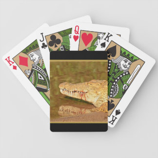 Crocodile Nile Kruger Park Africa Bicycle Playing Cards