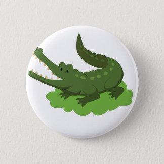 crocodile pinback button