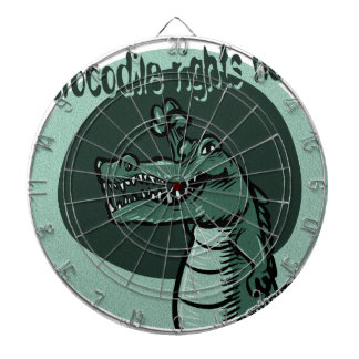 crocodile rights now blue dartboard with darts