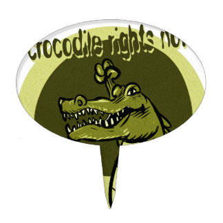 crocodile rights now green cake topper