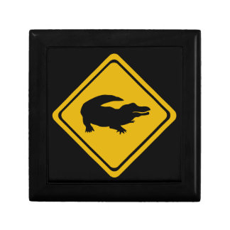 crocodile road sign jewelry box