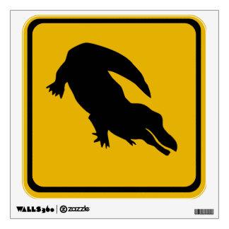 crocodile road sign wall graphic