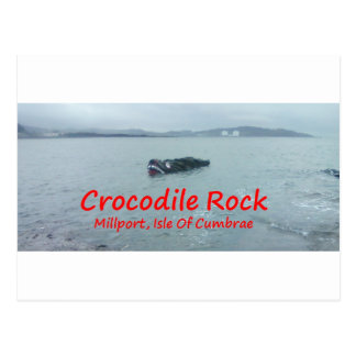 Crocodile Rock High Tide ( Red Text ) Postcard