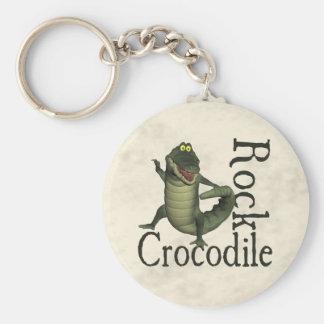 Crocodile Rock Basic Round Button Keychain