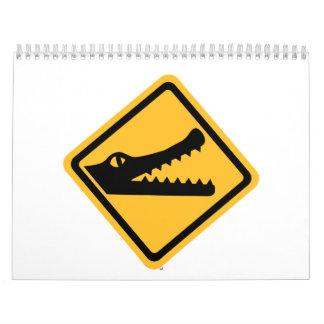 Crocodile sign calendar