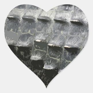 CROCODILE SKIN HEART STICKER