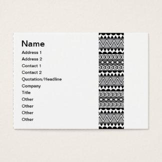 Crocodile Smile - Black and White Geometric Business Card