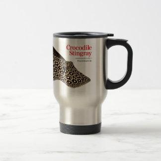 Crocodile stingray travel mug
