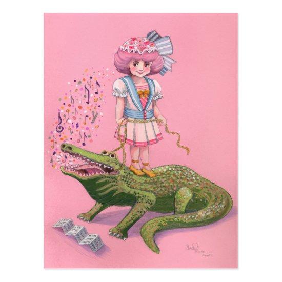 Crocodile Tamer Postcard