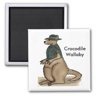 Crocodile Wallaby Magnet
