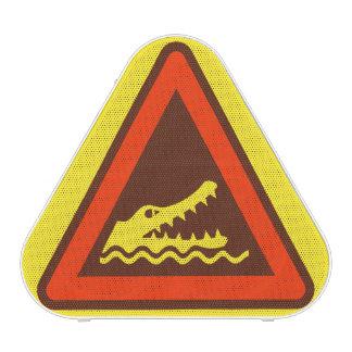 Crocodile Warning Sign Brown Speaker