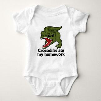 Crocodiles ate my homework baby bodysuit