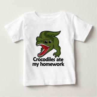 Crocodiles ate my homework baby T-Shirt