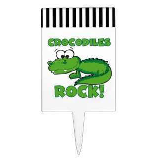 Crocodiles Rock Cake Topper