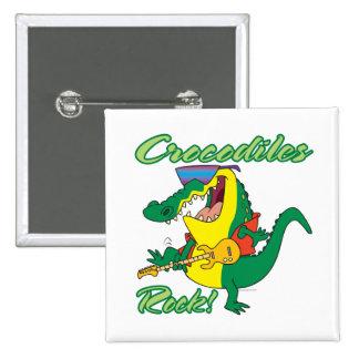 crocodiles rock music croc cartoon pin