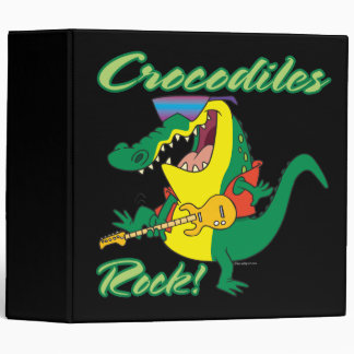 crocodiles rock music croc cartoon vinyl binder