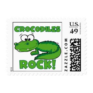 Crocodiles Rock Stamp