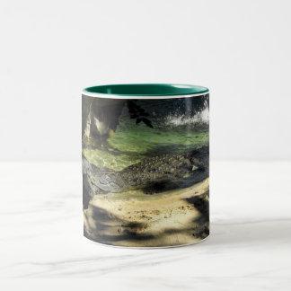 Crocodiles Two-Tone Coffee Mug